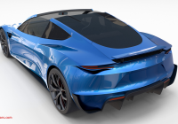 Tesla Bull New Tesla Roadster Electric Blue with Interior