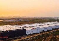 Tesla Factory In China Awesome Teslas China Factory Stuns In Sunset Shoot as Rumors Of