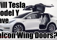 Tesla Falcon Awesome Will the Tesla Model Y Have Falcon Wing Doors Youtube