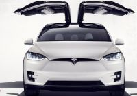 Tesla Falcon Luxury Tesla Unveils Model X Electric Family Car with Falcon Wing