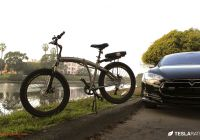Tesla First Name New Full Size Folding Electric Bike In A Tesla Model S