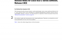 Tesla Full Self Driving Capability Elegant Release Notes for Cisco Ucs C Series software Release 2 0 3