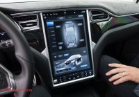 Tesla Like Screen New Tesla May Start Mirroring Apps From Smartphones On Its Big