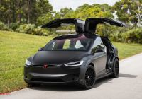 Tesla Model X Black Awesome Check Out This Matte Black Tesla Model X with Hre S209 Wheels