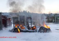Tesla On Fire Awesome Tesla Model S Burns Down at Supercharger In norway
