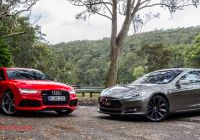 Tesla or Audi Awesome Audi Rs7 Sportback V Tesla Model S P85d Comparison Review