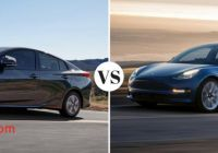 Tesla or Prius Lovely toyota Prius Prime Vs Tesla Model 3