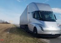 Tesla Semi Luxury Tesla Semi Prototype Spotted Apparently Broken Down Makes