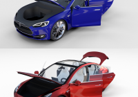 Tesla toy Car New Tesla Model 3 and Model S with Interior Pack