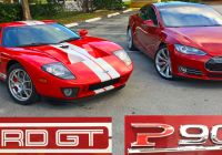Tesla Vs ford Beautiful Tesla Model S P90d Takes On Heffner ford Gt W Video