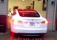 Tesla without Garage Luxury Video Shows Tesla Model S Backing Up Straight Into A Bmw