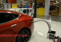 Tesla without Home Charger Luxury Tesla Created A Snake Like Charger for the Model S that
