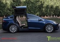 Tesla X Blue Bird Best Of Deep Blue Metallic Model X with 20 Tst Tesla Wheel In