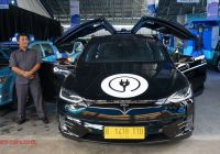 Tesla X Silver Bird Elegant Blue Bird to Operate Electric Taxis In May Indonesia Expat
