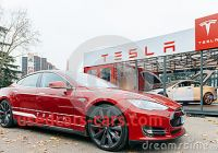 Tesla Zero Emissions New Tesla Model S Electric Car Zero Emissions Editorial Stock