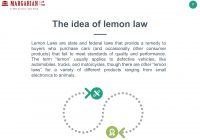 "Texas Lemon Law Used Cars Best Of What is ""the Lemon Law"" 2 Table Of Content the Idea Of Lemon Law"