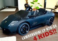 Toddler Electric Car Luxury Lamborghini Murcielago Lp 670 Sv 12v Electric Car for Kids Part 1