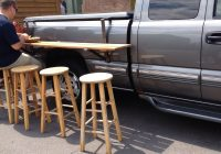 Use Truck Beautiful Truck Bed Picnic Table Make From Aluminum Tubing to Make It Lighter