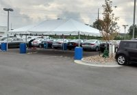 Used Car Superstore Inspirational Tent for the Grand Re Opening at Coralville Used Car Superstore