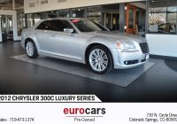 Used Cars Colorado Springs Inspirational 2012 Chrysler 300 300c Luxury Series Stock E1093 for Sale Near