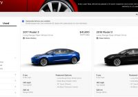 Used Tesla Website New Tesla Drops A Bunch More Used Model 3 Inventory at