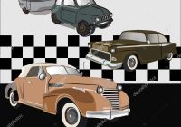Vintage Cars New Old Vintage Cars Vector Print Poster Shirt — Stock