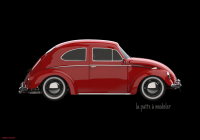 Volkswagen Beetle 3d Awesome Vw Beetle Red Impression Photo