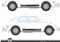 Volkswagen Beetle and Camper Best Of for 1set 2pcs Classic Beetle Wolfsburg Stripes Graphics