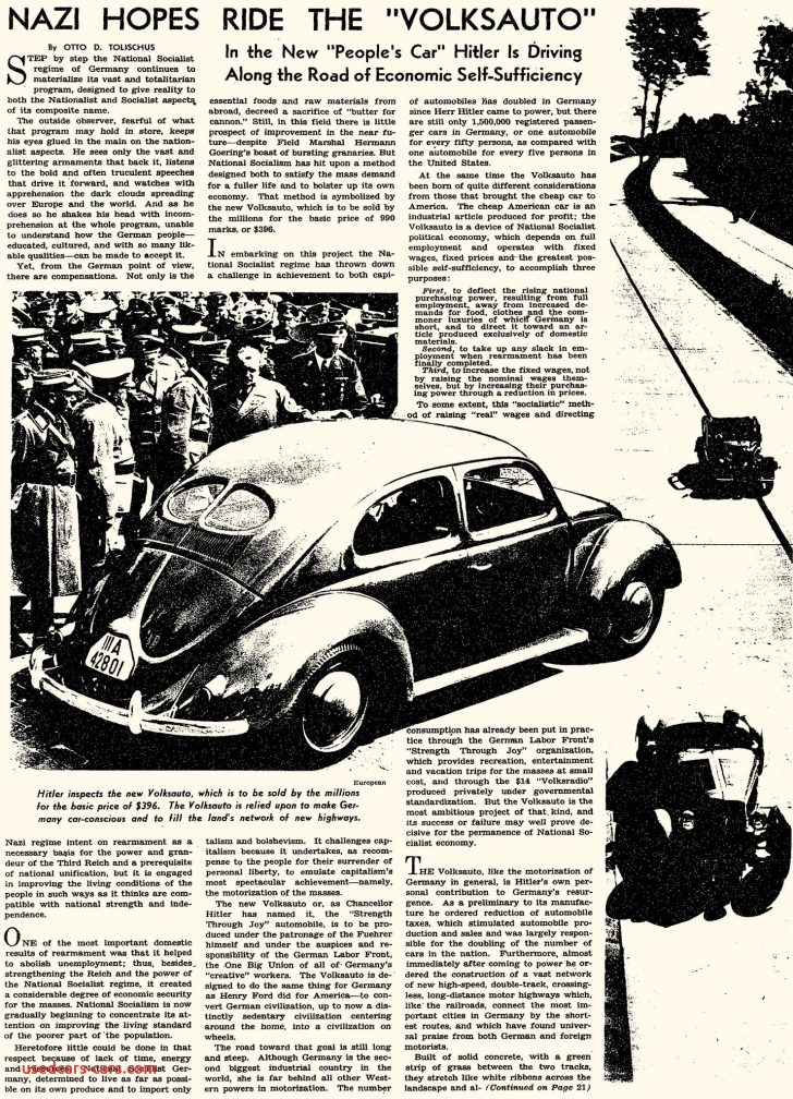 Permalink to Lovely Volkswagen Beetle and Hitler
