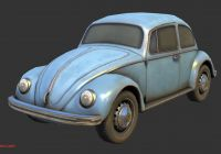 Volkswagen Beetle Green Beautiful Volkswagen Beetle Buy Royalty Free 3d Model by Renafox
