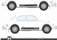 Volkswagen Beetle with Camper New for 1set 2pcs Classic Beetle Wolfsburg Stripes Graphics Decals Stickers Car Styling