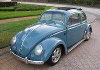 Volkswagen Beetle with Lashes Fresh Light Blue Bug Funkie