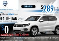 Volkswagen Specials New New 2014 Volkswagen Tiguan Low Payment Lease Specials