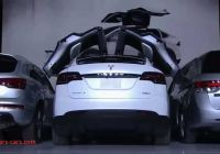 What Tesla Has butterfly Doors Lovely Tesla X P85d the Falcon Wing Suv Youtube